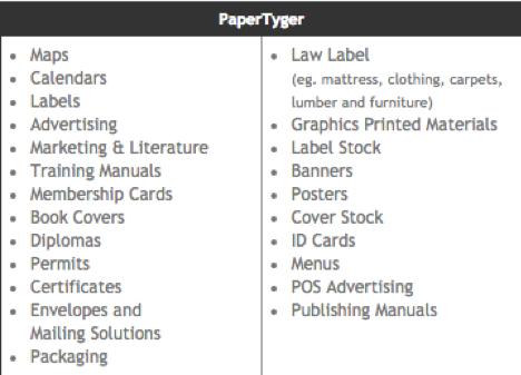 PaperTyger Qualities