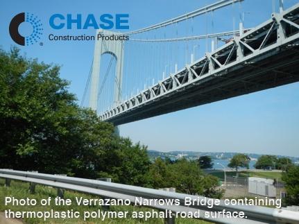 Photo of the Verrazano Narrows Bridge containing thermoplastic polymer asphalt road surface..jpg