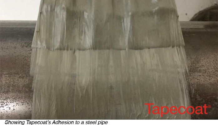 Tapecoat's Adhesion to a steel pipe