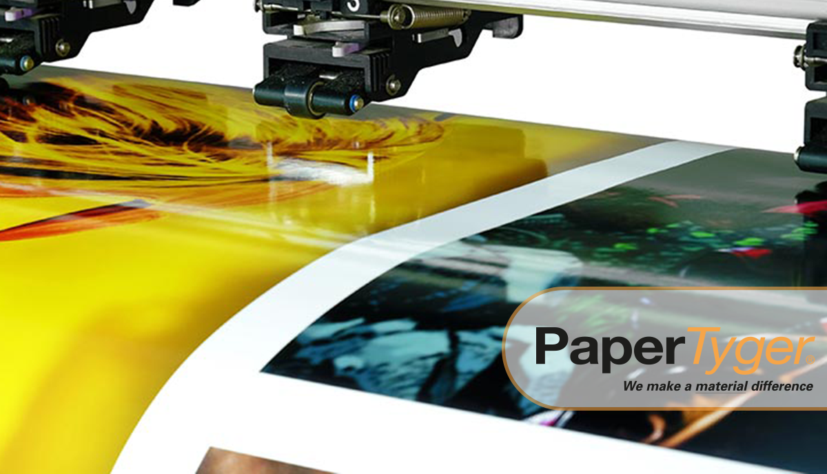 Printer printing on a laminated paper